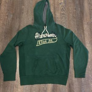 Abercrombie & Fitch Green Hoodie Large